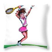 Tennis Ace Throw Pillow