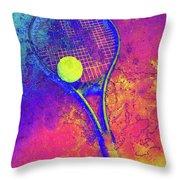 Tennis Art Version 1 Throw Pillow