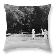 Tennis Champions Sutton And Hotchkiss Throw Pillow