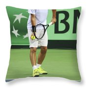 Tennis Player Throw Pillow