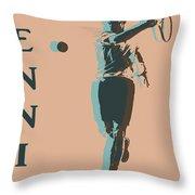 Tennis Player Pop Art Poster Throw Pillow