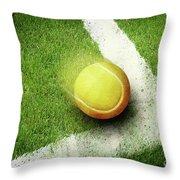 Tennis Point Throw Pillow