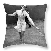 Tennis Star Katherine Stammers Throw Pillow