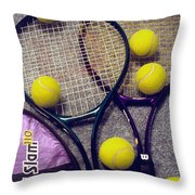 Tennis Still Life 2 Throw Pillow