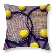Tennis Still Life 3 Throw Pillow