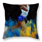Tenniswoman 57 Throw Pillow
