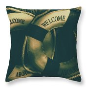 Tension On The High Seas Throw Pillow