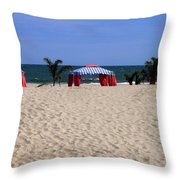 Tent Caravan Throw Pillow