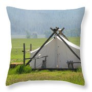 Tent Living Montana 2010 Throw Pillow