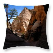 Tent Rocks Canyon Throw Pillow