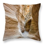 Tent Rocks Slot Canyon 2 - Tent Rocks National Monument New Mexico Throw Pillow