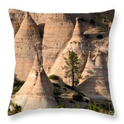 Tent Rocks Wilderness Throw Pillow