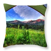 Tent View Throw Pillow