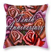 Tenth Anniversary Throw Pillow