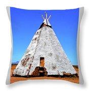 Tepee Trading Post Throw Pillow