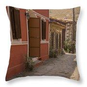 Tepekoy Village Street Throw Pillow