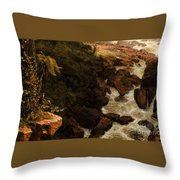 Tequendama Falls Near Bogota Throw Pillow