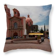 Tequisqueapan Main Catherdral, Mexico Throw Pillow