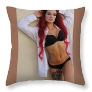 Teresa Sands Glam Throw Pillow