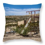 Terlingua Ghost Town #5 Throw Pillow