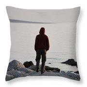 Terminal Beach Throw Pillow