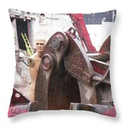 Terminator In Toronto Throw Pillow