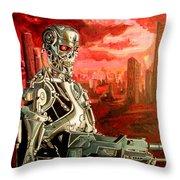 Terminator T800 Throw Pillow