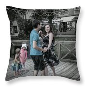 Ternopil Town Square, Ukraine Throw Pillow