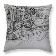 Tortured Faces Throw Pillow