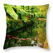 Terra Nostra Park Throw Pillow