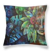Terra Pacifica By Reina Cottier Nz Artist Throw Pillow