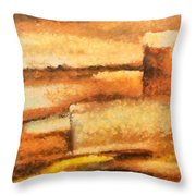 Terra Rossa Throw Pillow