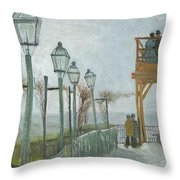 Terrace And Observation Deck At The Moulin De Blute Fin Throw Pillow