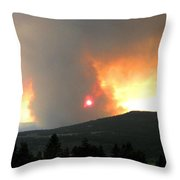Terrace Mountain Fire 3  Throw Pillow