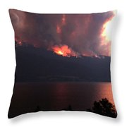 Terrace Mountain Fire 5  Throw Pillow