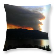 Terrace Mountain Fire Throw Pillow