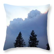Terrace Mountain Smoke Throw Pillow