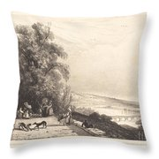 Terrace Of St. Cloud (terrasse De St. Cloud) Throw Pillow