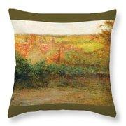 Terrace, Sun, Gerberoy Throw Pillow