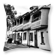 Terraced Houses - Black And White By Kaye Menner Throw Pillow