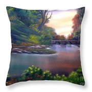 Terracotta Crossing Sold Throw Pillow by Cynthia Adams