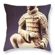 Terracotta Soldier Throw Pillow