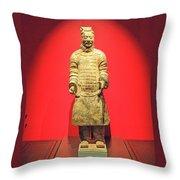 Terracotta Warrior  A Brave Commanding Officer   Throw Pillow