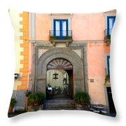 Terrazza Marziale Restaurant In Sorrento Throw Pillow