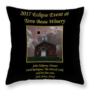 Terre Beau Winery 2017 Eclipse Poster Throw Pillow