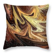 Terrestrial Brush Strokes  Throw Pillow