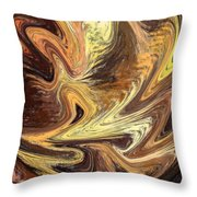 Terrestrial Fire Abstract Throw Pillow