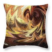 Terrestrial Flames Abstract  Throw Pillow