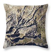 Terrible Erosion In The African Throw Pillow