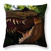 Terrible Lizard Throw Pillow